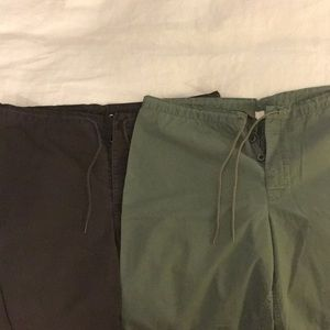 Lot of 2 identical J.Crew Wide Leg Pants Size 10